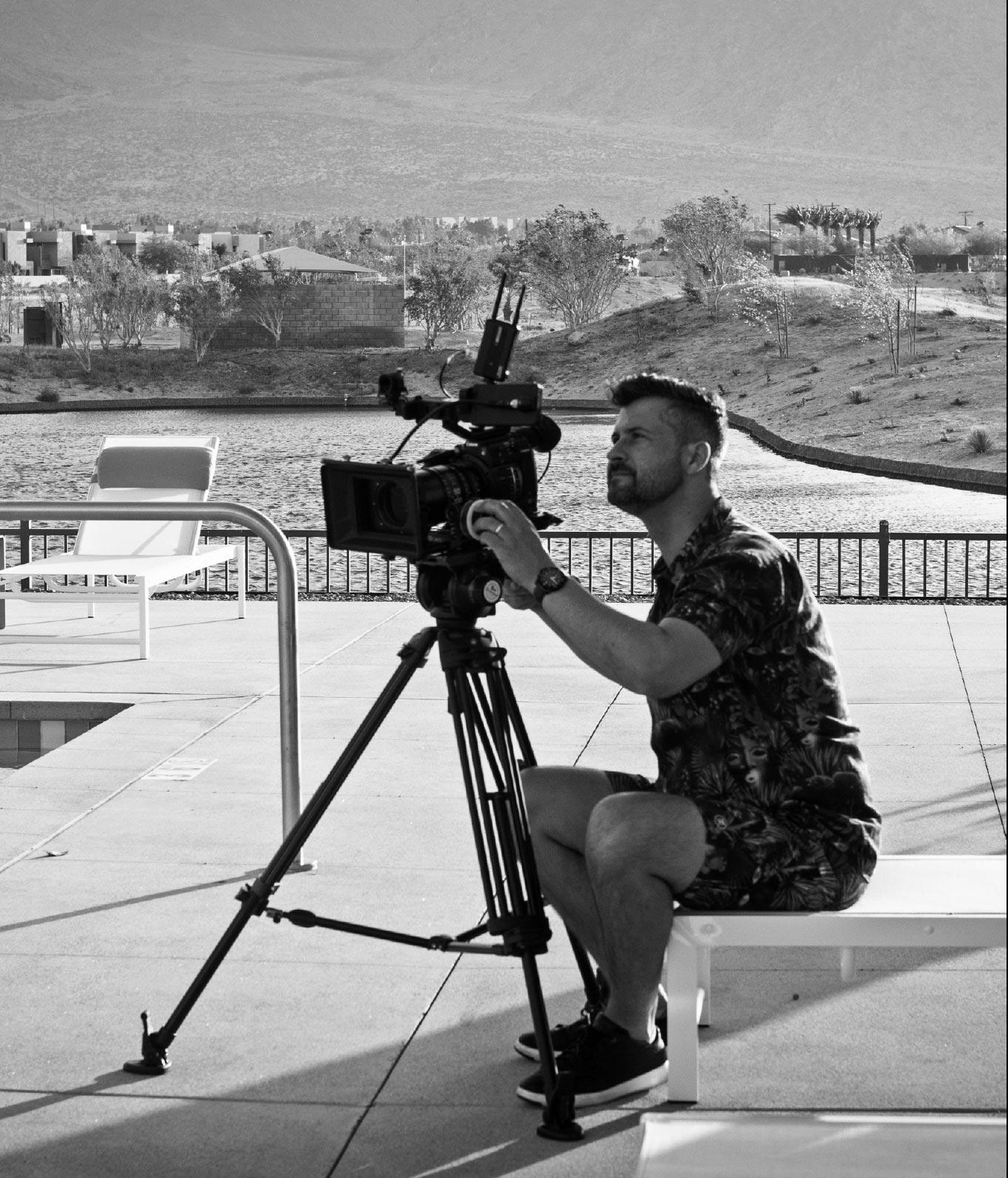 Videographer on a Gunn Jerkens video shoot.